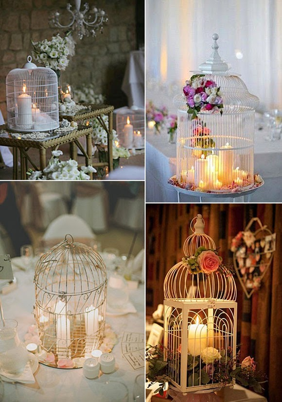 Jaulas para decorar bodas 04 portugal white weddings - Decoraciones bodas vintage ...